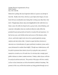 sample argumentative essay co  classical argument essay example sample about education write your sample argumentative essay