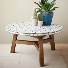 Outdoor Tile Table Top Mosaic Tiled Coffee Table Spider Web Project Bishop Rd