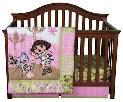 dora the explorer crib bedding collection