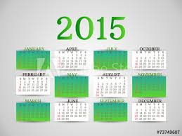 Simple Calendar Template 2015 Original White And Green Simple Calendar Template Calendar