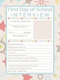 first day of school interview printable getting to know first first day of school interview printable