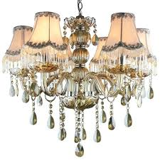 colored chandelier crystals 6 light fabric shade cognac color crystal chandeliers aqua colored chandelier crystals