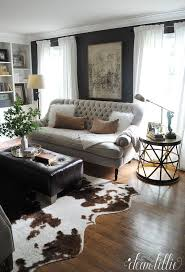 Small cow hide rugs Zebra Dear Lillie More Progress In Our Den Study Living Room Living Noahseclecticcom Cowhide Rug Ideas Noahseclecticcom