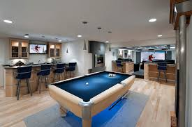 game room lighting. Game Room Garage Ideas Basement Contemporary With Recessed Lighting Deep Blue Pool Table Home Theatre