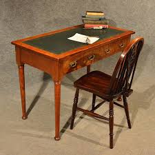 antique desk leather top library writing study antiques atlas