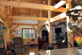 custom designed timberframe post and beam porch post and beam home