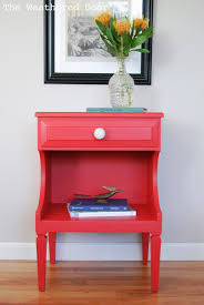 Poppy Red Nightstands .
