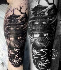 татуировка в стиле япония на ноге сделать тату у мастера каролины