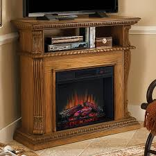 corinth 23 premium oak electric fireplace cabinet corner