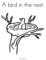 Small Picture Birds Nest Template Coloring Coloring Pages