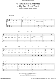 all i want for christmas is my two front teeth sheet music all i want for christmas is my two front teeth sheet music for piano