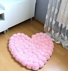 rugs for girls bedroom pom rug romantic room baby shower gift pink shabby childrens bedrooms nz