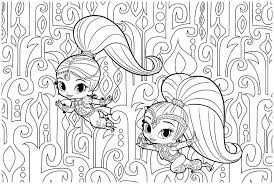 Shimmer And Shine Coloring Book As Well As Shimmer And Shine