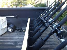 truck bed rod holders rod rack decks