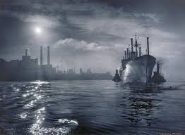 Baltimore Harbor, A. Aubrey Bodine | Mia