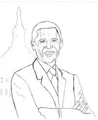 Small Picture Barack Obama Coloring Pages For Kids Coloring Home