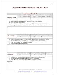Restaurant Manager Review Forms Restaurant Manager Review Form Radiovkm Peoplewho Us