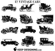 Old Vintage Car Vectors Free Printables Freebies Diy