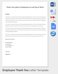 employee notes template employee thank you letter template 20 free word pdf documents