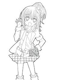 Anime Coloring Page Anime Wolf Coloring Pages Anime Girl Coloring