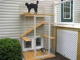 Catio - Cat Patio cool way to let cats out without the cat destroying the  neighbors garden! they have large plans to and many types of cat enclosures.