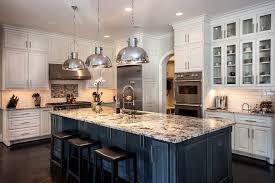 Titantium And Lennon Granite Kitchen Kitchen Traditional With Black  Barstools Nickel Pendant Lights