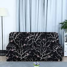 black couch slipcovers. Plain Couch Unique Bargains Black Plum Blossom Pattern LShaped Stretch Sofa Slipcovers  1 2 3 To Couch C