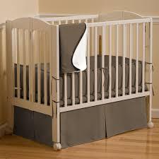 brown solid color crib bedding