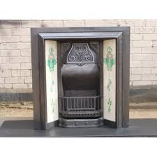 Antique Original Victorian cast iron fireplace with tiles