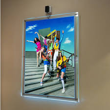 pack 5units a1 single sided wall mounted led art hanging systems display pocket
