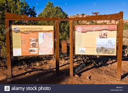Interpretive Signs And Map Of Grand Staircase Escalante