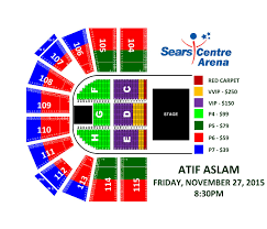 Sears Centre All In Seating Chart Atif Aslam Live In Chicago At Sears Centre Arena Hoffman