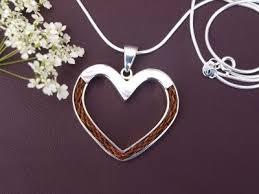 silver pony necklace horse hair jewellery handmade horsehair neckalce