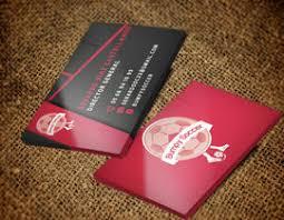 Soccer Business Card Design Business Card For Bumpy Soccer Freelancer