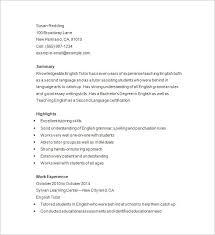 Sample Resume For Tutors Resume Tutoring Sample Best Of Tutor