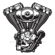 illustration of motorcycle engine by imogi graphicriver