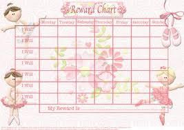 Beautiful Ballerina Childs Reward Chart