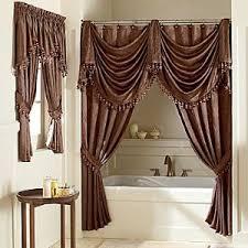 Splendor Double Swag Luxury Shower Curtains