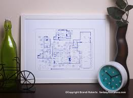 Charlie Harper house layoutTwo and Half Men house floor plan image