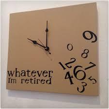 wver i m retired wood clock