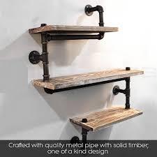 Amazon.com: Industrial Pipe Shelving Bookshelf Rustic Modern Wood Ladder  Pipe Wall Shelf 3 Tiers Wrought IronPipe Design Bookshelf Diy Shelving:  Kitchen & ...