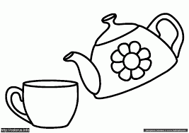 Small Picture Teapot And Cup Colouring Pages Coloring Home