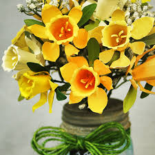 Paper Flower Bouquet In Vase Make A Paper Daffodil Bouquet And Mason Jar Vase