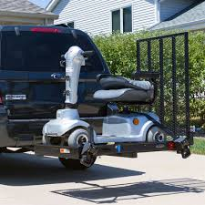 Electric Folding Scooter and Wheelchair Rack SC400   Discount Ramps