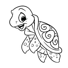Turtle Coloring Pages Printable Trustbanksurinamecom