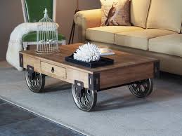 Gorgeous Rustic Coffee Table With Wheels Rustic Coffee Table With Wheels  Side Bed Rustic Coffee Table