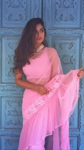 Graduation Saree Design Ruffles Indian Television Fashion Diary Saree Look