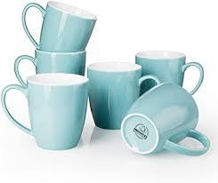 Minimum of 4 required to ship. Amazon Com Mugaholics Coffee Mug Set 16 Ounce Ceramic Coffee Mug Set With Handle Large Coffee Mugs For Coffee Tea Cocoa Cappuccino Latte Turquoise Coffee Mugs Set Of 6 Turquoise M 612