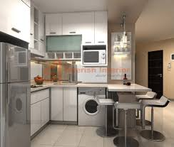Decorate Apartment Kitchen Apartment Exquisite Small Apartment Kitchen Idea With White