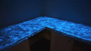glow in the dark concrete countertops mix in the glow in the dark granules into the